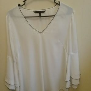 WHITE HOUSE BLACK MARKET TOP WITH BELL SLEEVES